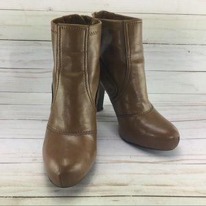 Franco Sarto Leather Ankle Boots Size 61/2